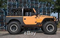 JCR Offroad Rear Aluminum QP Armor (Fender Delete) Black 07-17 Jeep JKU 4 DR