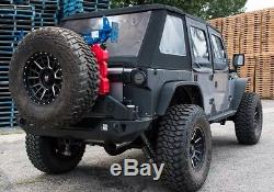 JCR Offroad Rear Aluminum Quarter Panel Armor Black PC 07-18 Jeep JK 2 Door