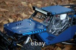 JK-WORKS Black Spider Axial Wraith Aluminum Body Panel Conversion Kit Blue