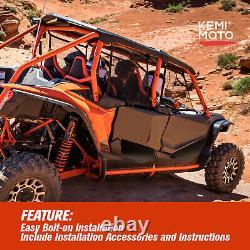 KEMIMOTO UTV Lower Door Panel For Honda Talon 1000X-4 2020+ Half 4 Door Aluminum