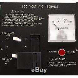 Larson 330 Day Black 120 Ac/Dc 7 X 15 3/4 Aluminum Marine Boat Breaker Panel