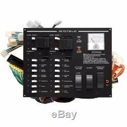 Larson Blk Aluminum 240V 50Hz Ac European Electrical Boat Breaker Switch Panel