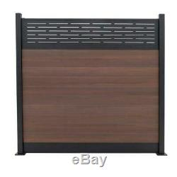 Lattice Fence Panel Top Aluminum Frame Light Weight Heavy Duty Weather Resistant