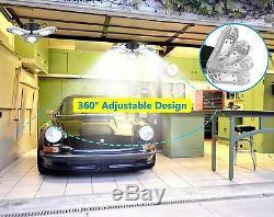 Led Shop Lights For Garage, 3 Deformable Panels Ceiling Lights 6000 Lumens 60W
