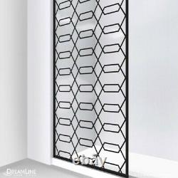 Linea Maze 34 in. W x 72 in. H Single Panel Frameless Shower Door Satin Black