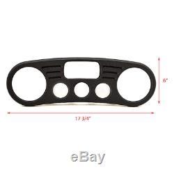 Malibu Boat Blank Gauge Panel 5992182A 17 3/4 x 6 Inch Black Aluminum