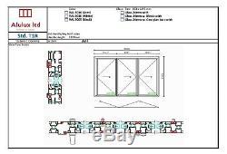 Matt Black Quality Aluminium Bi fold Doors inc Glass 3 panels