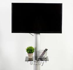 Mobile TV Cart for 32 to 70 LCD LED Plasma Flat Panels Stand with Wheels