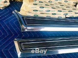 NOS 1967 Ford Galaxie 500 XL LTD Rear Wheel Quarter Molding Trim Panels 67