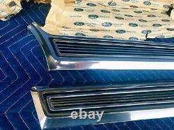 NOS 1967 Ford Galaxie 500 XL LTD Rear Wheel Quarter Moulding Trim Panels 67