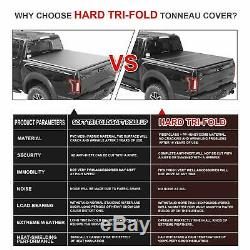 New For 2015-2018 Ford F-150 5.5' Bed Tri-Fold Hard Tonneau Cover with LED light