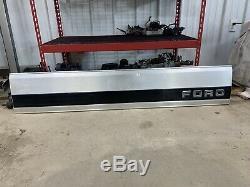 OEM 1987-1996 Ford F-150 F-250 F-350 Tailgate Finish Trim Panel Black Reflector
