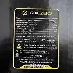 OPEN BOX Goal Zero Boulder Monocrystalline Solar Panel in Black 100W
