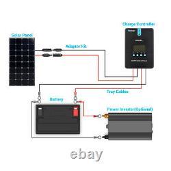 Open Box Renogy Eclipse 100W Mono Solar Panel 12V PV Power Trailor Marine Home