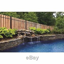 Outdoor Barrier Pre-Fabricated Black Aluminum Single Metal Post Fence Panel Kit