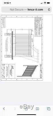 POOL FENCE BLACK ALUMINUM 54 inch High USED Model Jerith. Com 14 Panels 5ft W