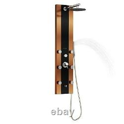 PULSE ShowerSpas 1049B-BN Rio ShowerSpa Panel with 10 Rain Showerhead, 6 Bod