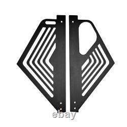 Pair Engine Covers Grill Black Aluminium Panel Guard For CORVETTE C8 2020-2021 w