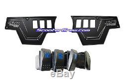 Polaris RZR XP1000 Custom CNC Billet Aluminum Dash Panel Plate 4 Rocker Switch