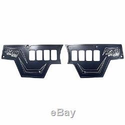Polaris RZR XP1000 XP 900s 2016 Turbo 8 Switch Black 2 Piece Aluminum Dash Panel