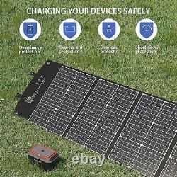Portable Power Station 167Wh 45000mAh Lithium Battery Solar Generator w Panel