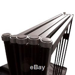 ProX Black Aluminum 5-Panel DJ Scrim Facade Frontboard with Travel Case + Chair