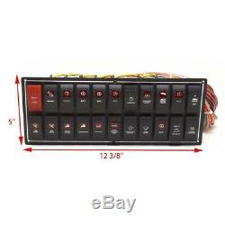 Pursuit Boat Helm Switch Panel 3309453 12 3/8 x 5 Inch Aluminum
