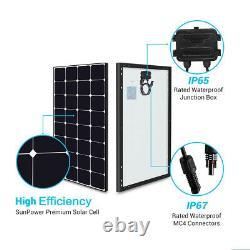 Renogy Eclipse 100W Watt Mono Solar Panel 12V 100W PV Power Trailor Marine