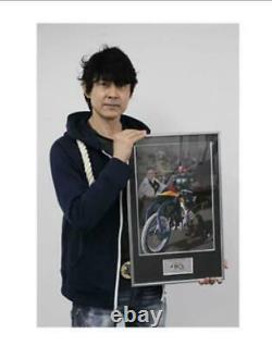 Rider Hero Memorial Kamen Rider BLACK RX Autographed Photo frame panel New