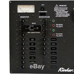Rinker 342 Black 110V 60Hz Aluminum Boat Cabin Breaker Panel 222434