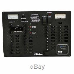 Rinker 342 Black Aluminum 110V 60Hz Boat Cabin Breaker Panel 222433