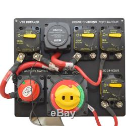 Rinker Boat Battery Switch Panel 11 1/4 x 10 Inch Black Aluminum