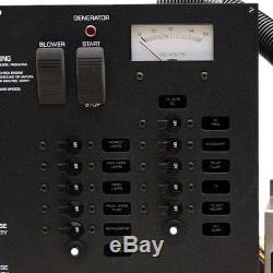 Rinker Boat Breaker Switch Panel 222469 300 Black Aluminum