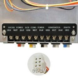 Rinker Oem Black 9 X 11 3/4 X 6 1/4 Inch Aluminum Boat Breaker Switch Panel