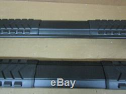 (SILVERADO) Steel Craft STX400 Aluminum Step Boards Black Rocker Panel Mount