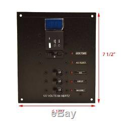 Scout Boat Breaker Panel 120V 60Hz 7 1/2 x 6 1/4 Inch Black ES-1550
