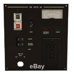 Sea Ray 1401344 Black 9 3/4 x 9 Inch Aluminum Boat 120 AC Volt Switch Panel