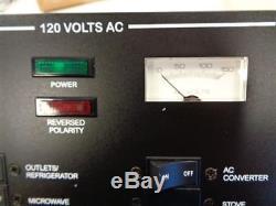 Sea Ray 260 Sundancer Breaker Panel Black Aluminum 120 Volt Ac 9 X 9 Boat