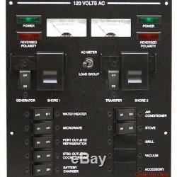 Sea Ray Boat Breaker Switch Panel 2018355 370 Aluminum 14 1/2 x 9 Inch