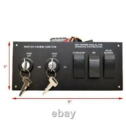 Sea Ray Boat Ignition Switch Panel 1934788 Black Aluminum 9 x 4 Inch