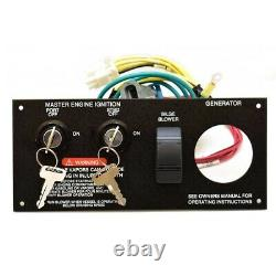 Sea Ray Boat Ignition Switch Panel 1957479 9 x 4 Inch Aluminum