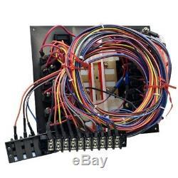 Seaark Black 11 X 9 5/8 Inch Aluminum Illuminated Boat Switch Breaker Panel