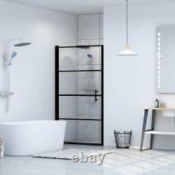 Shower Door Tempered Glass Black Shower Enclosure Panel Bathroom Home Black