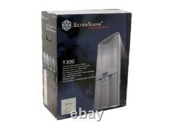 SilverStone Temjin Series TJ05B-W Black Aluminum front panel/door, 0.8mm SECC bo