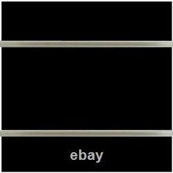 Slatwall Panels, (Set of 2), 24 H x 48 L with aluminum insert Black Melamine