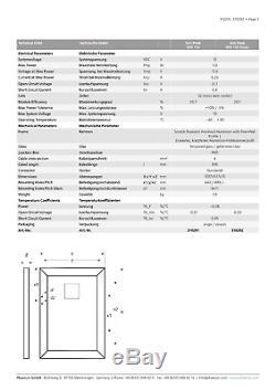 Solar Panel SPR 110With12V, Monocrystalline, Back-contact & Black Aluminum Frame