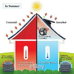 Solar Powered Exhaust Fan AC Power Backup IP68 Waterproof Adjustable Solar Panel