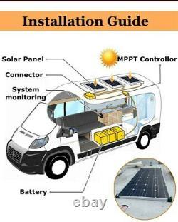 Solar panel 150w 300w 18V 12V 24V Charger For Car Boat Camping Aluminum Frame