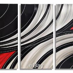 Statements2000 3D Metal Wall Art Panels Black Red Silver Modern Decor Jon Allen