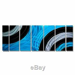 Statements2000 3D Metal Wall Art Panels Blue Black Silver Modern Decor Jon Allen